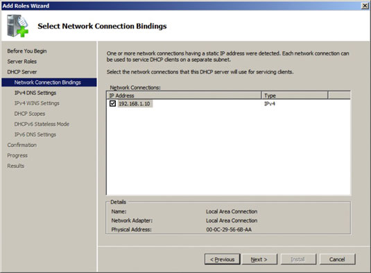 how to add roles in dhcp server
