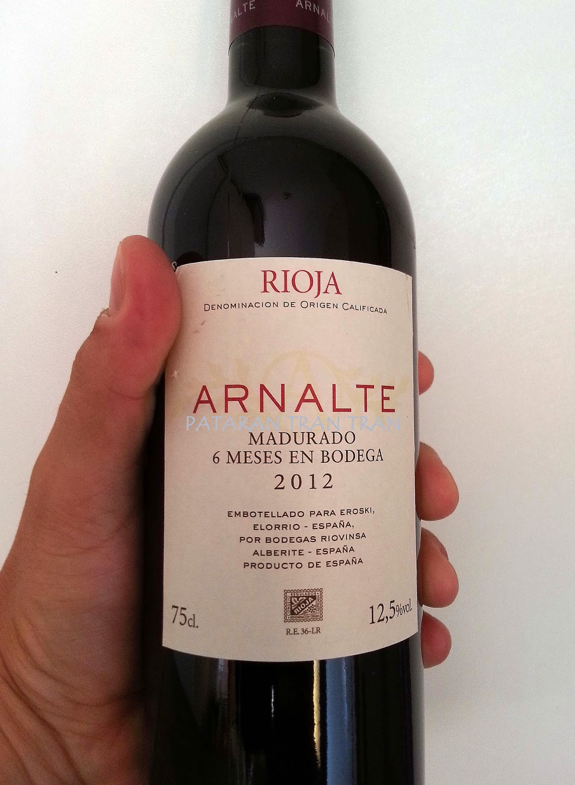 Arnalte 2012. Roble. Rioja.
