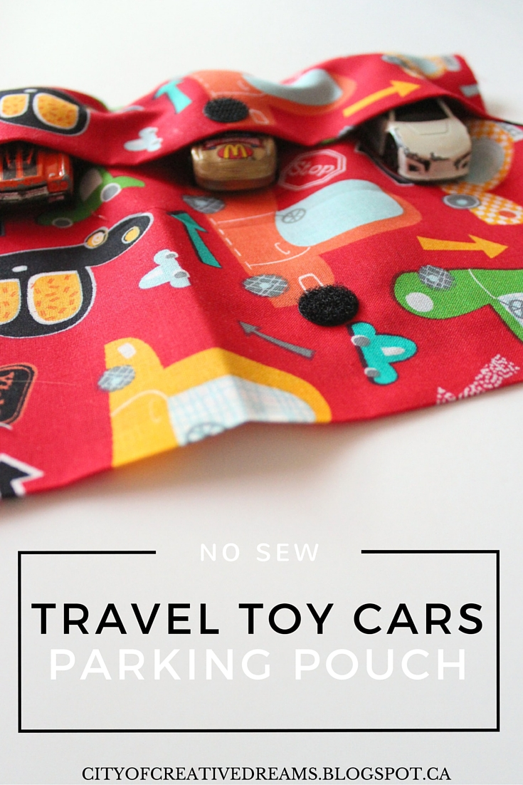 no sew toy cars pouch
