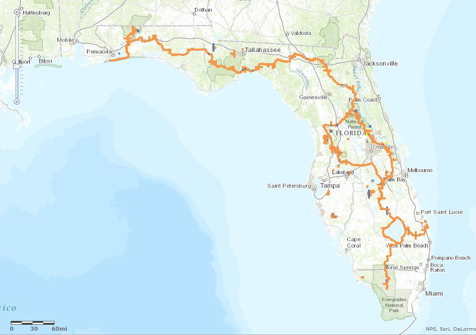 26 innovative Florida Trail Map – bnhspine.com