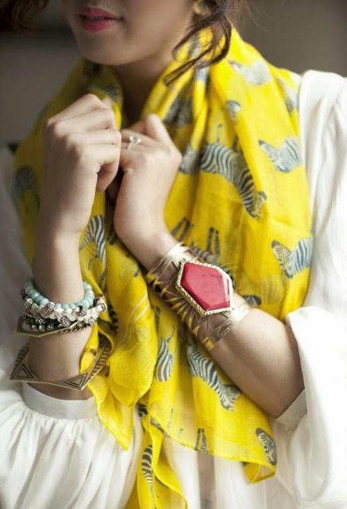 Scarf + Bracelets