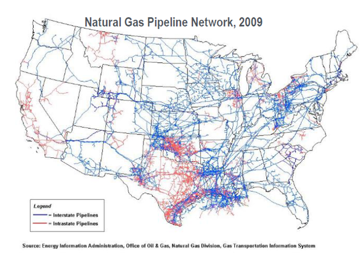 For Anyone Interested In The History Of Oil In America You Can Basically See Where It Was Discovered In The Us Based Upon Where The Red Intrastate Routes