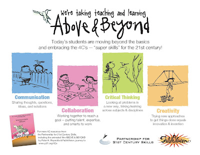 Above and Beyond~ Gifted Students and the 4 C's