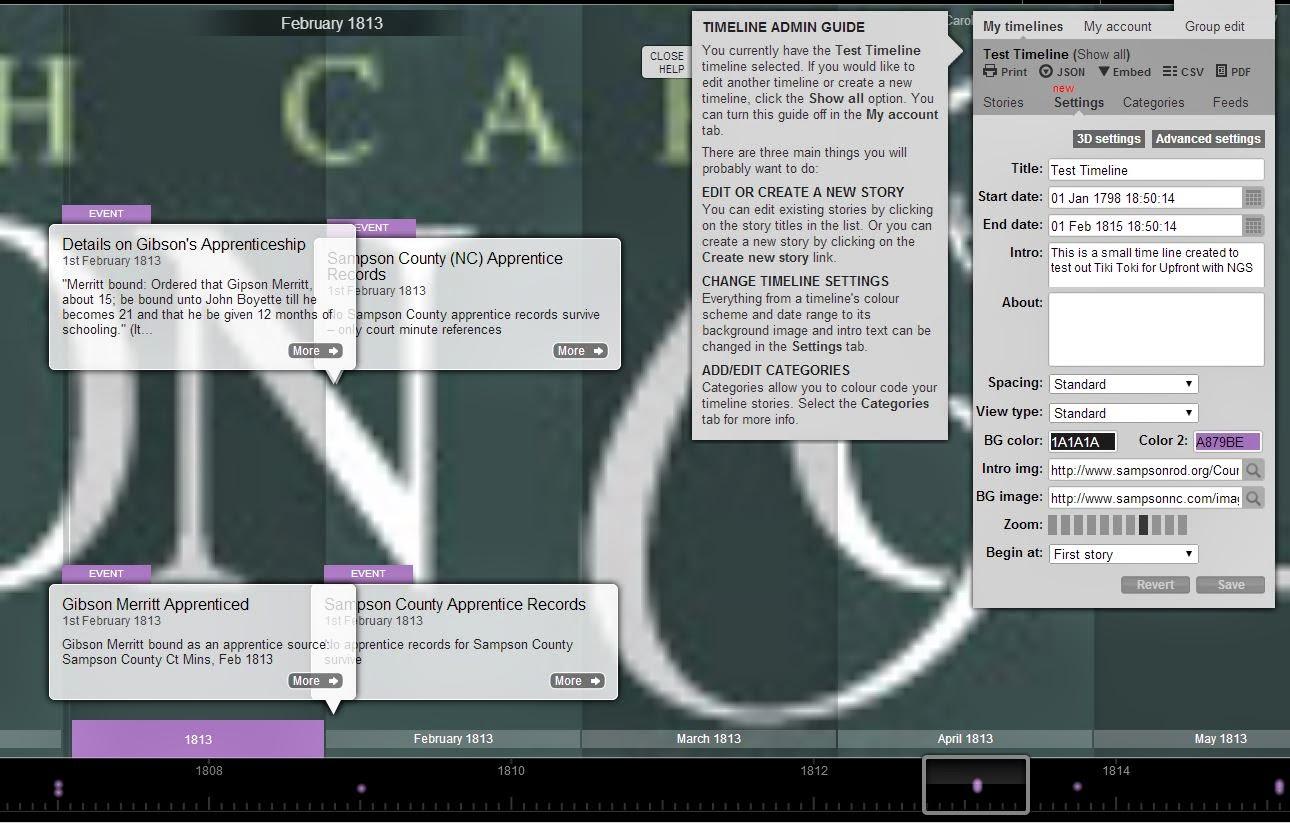 upfront with ngs tiki toki a fun free timeline creation tool that