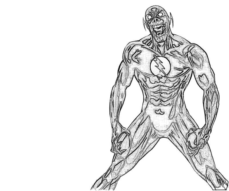 Black Flash Run Coloring Pages