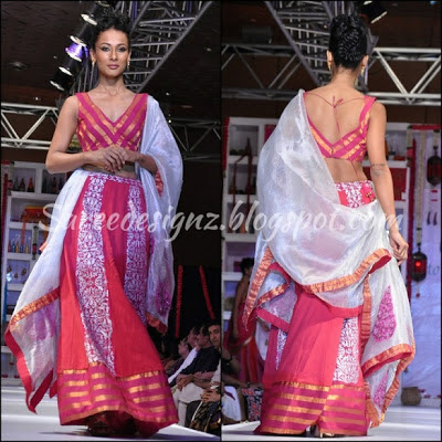 fashion week half sari pictures