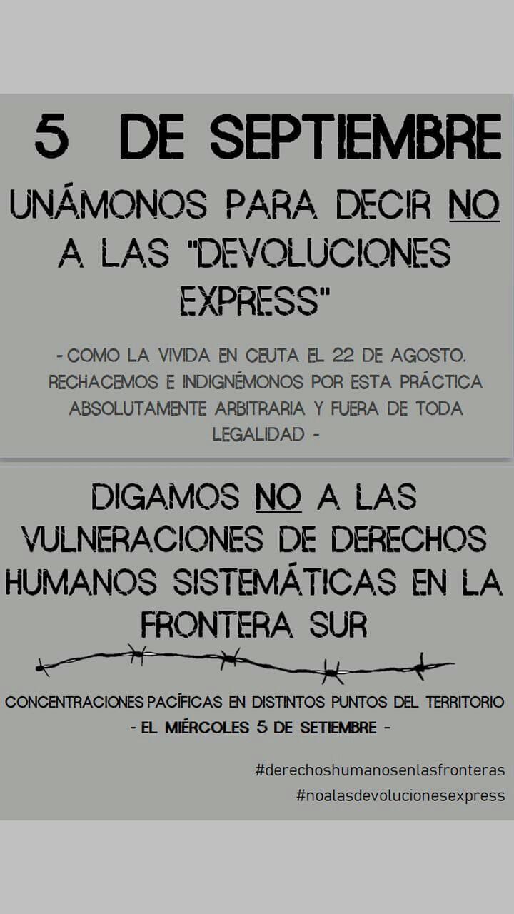 CONCENTRACIONES #STOP DEVOLUCIONES EXPRESS#