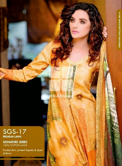 Signature Series Lawn Collection 2014 by Gul Ahmed