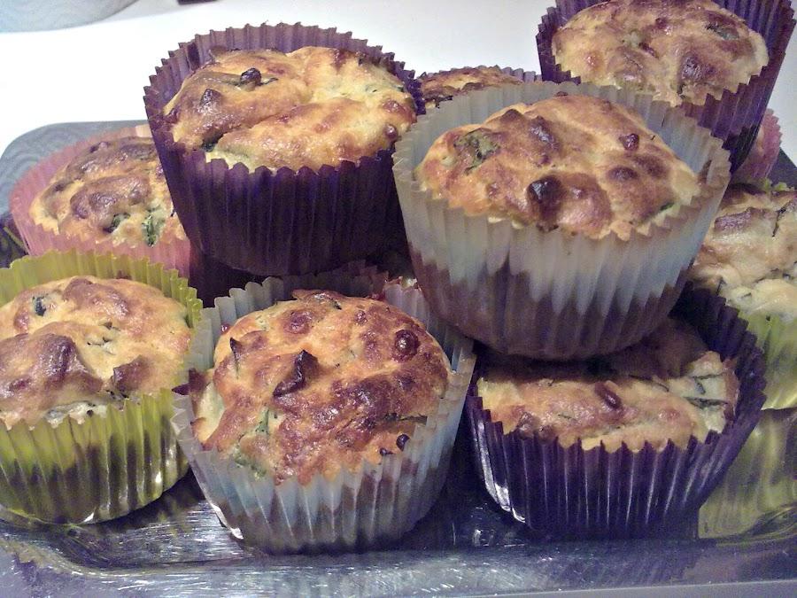 Muffins de espinaca