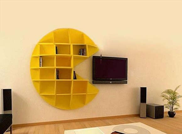 LCD TV Furniture Book Shelf Designs Ideas.