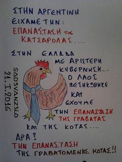 Ελλάς:Επανάσταση της γραβατωμένης κότας !!!!