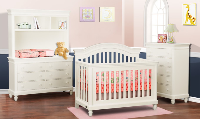 ciderhill room collection, crib doubled dressere