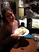 The wonderful eggs benedict Sammy and I had in the London Airport (img )