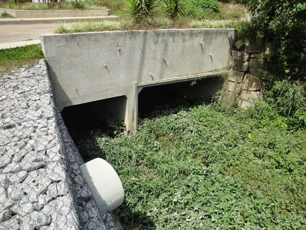 Pontes afuniladas e cheio de mato