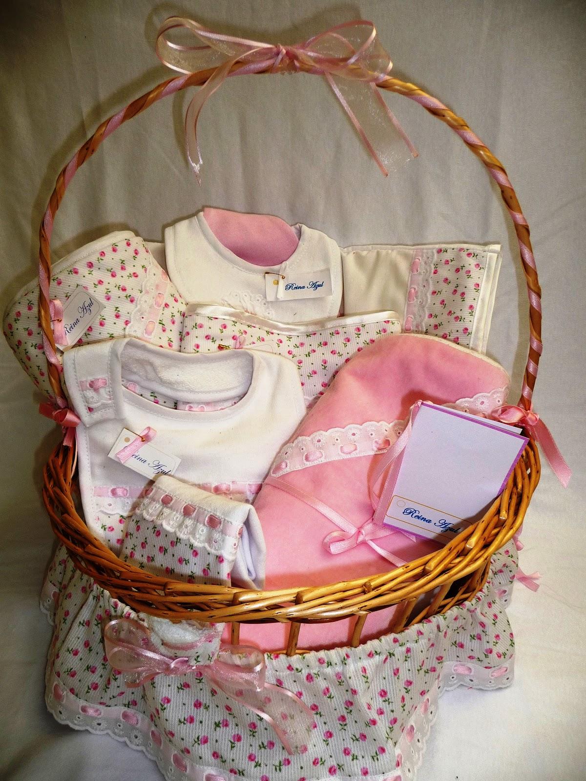 Canasta de beb ni o decorada imagui - Como decorar una cesta de mimbre ...