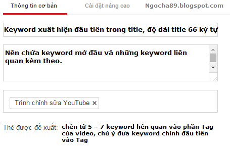Huong dan seo video trên youtube