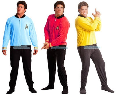 """Originales pijamas """"para adultos"""" de Star Trek Star-trek-footie-pijamas"""