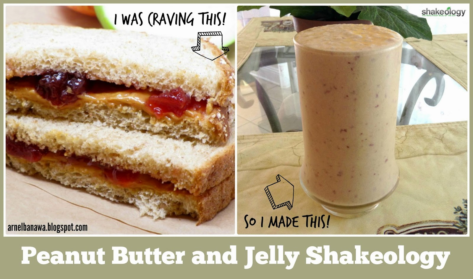 peanut butter and jelly Here is a nice photographic series from a very informative study conducted by wisegeek it includes peanut butter, sandwich and a wide range of other food you might consume.