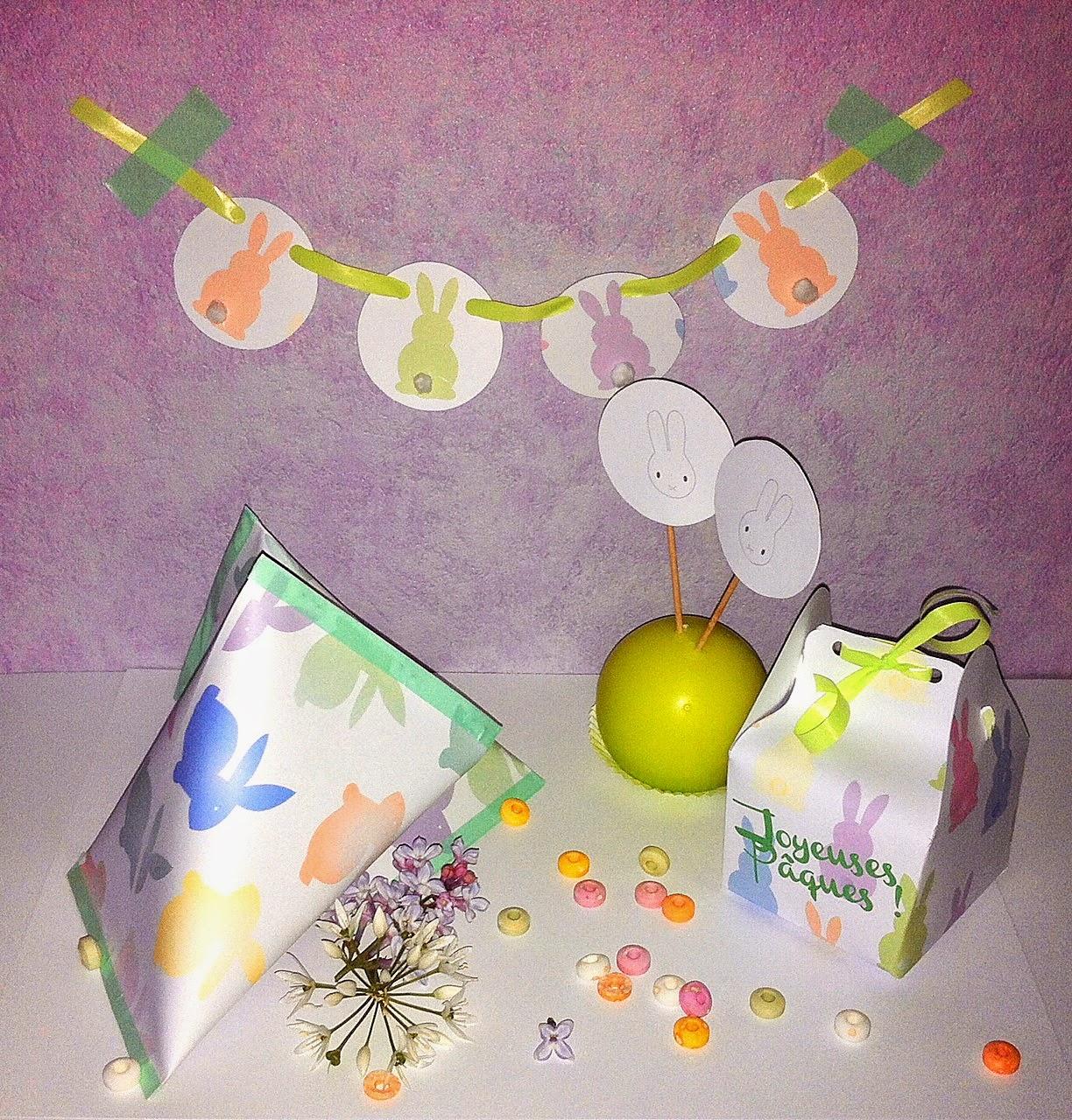 mamzelle lili DIY déco pâques printable