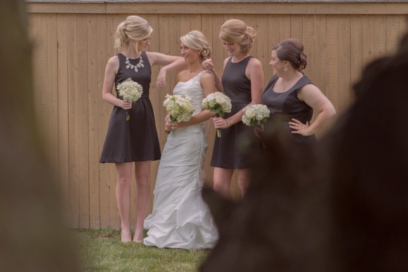 The beautiful bride and her bridesmaids