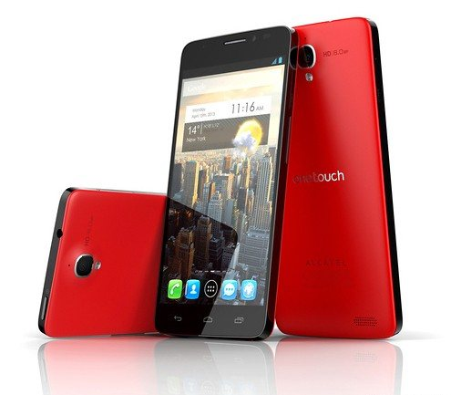 Svelato il nuovo phablet Alcatel con display da 5 pollici full hd e android jelly bean 4.2