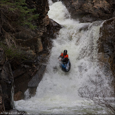 Cruise Quenelle in the middle of the second canyon, chris baer, co, animas, crazy women, canyon creek, colorado, durango