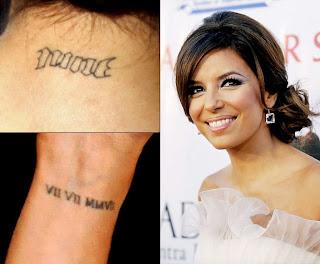 eva longoria tattoo