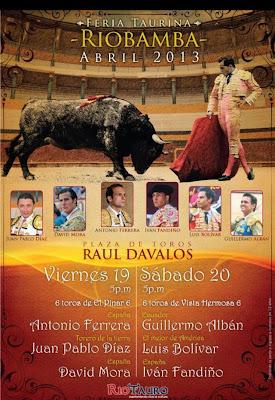 Programa de las fiestas de Riobamba 2013