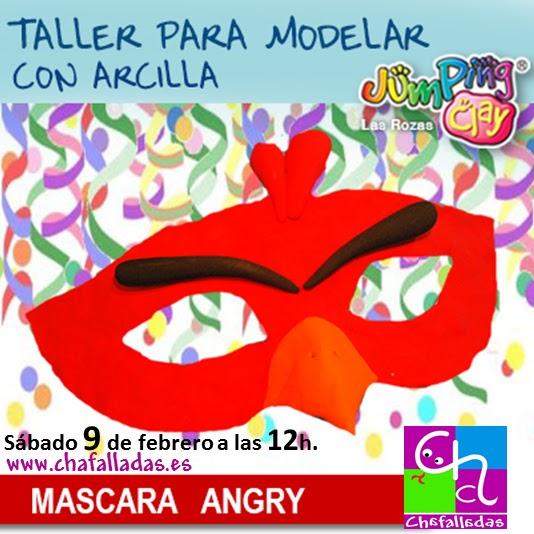 taller infantil de carnaval Jumping Clay en Chafalladas
