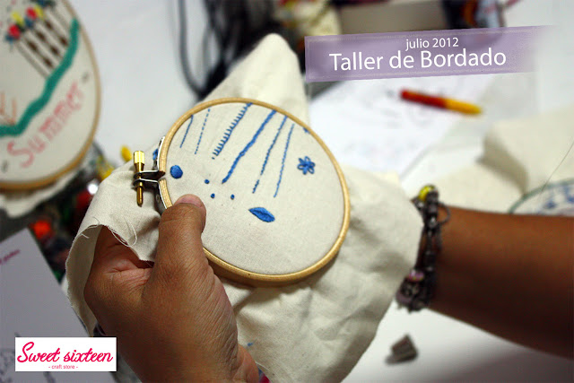 Taller Bordado tradicional Sweet sixteen, craft store. Julio 2012. Madrid.