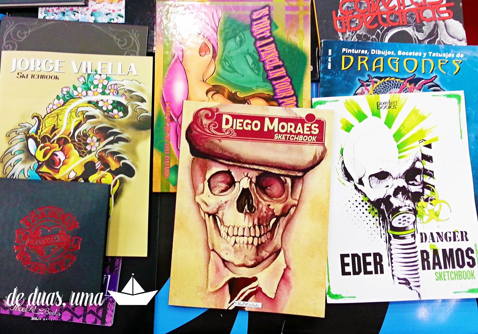 livros e revistas sobre tatuagem deduasuma