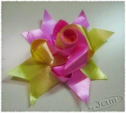 how to diy weave fold rose from flower insert coin