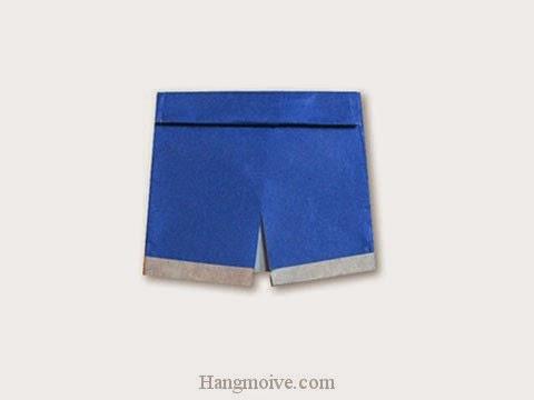 Cách gấp, xếp quần sooc bằng giấy origami - Video hướng dẫn xếp hình quần áo - How to fold a sooc