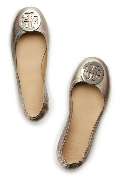Enter the Tory Burch Minnie Travel Ballet Flat.