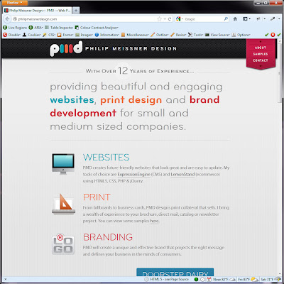 Screen shot of http://philipmeissnerdesign.com/.