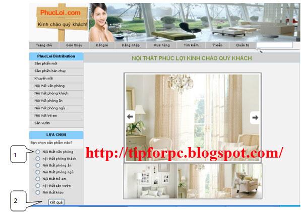 Source code Web quản lý bán hàng nội thất Asp.Net