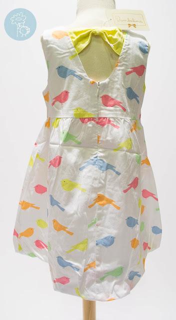 Vestido infantil pájaros Bimbalina en Tienda y Blog moda infantil Retamal