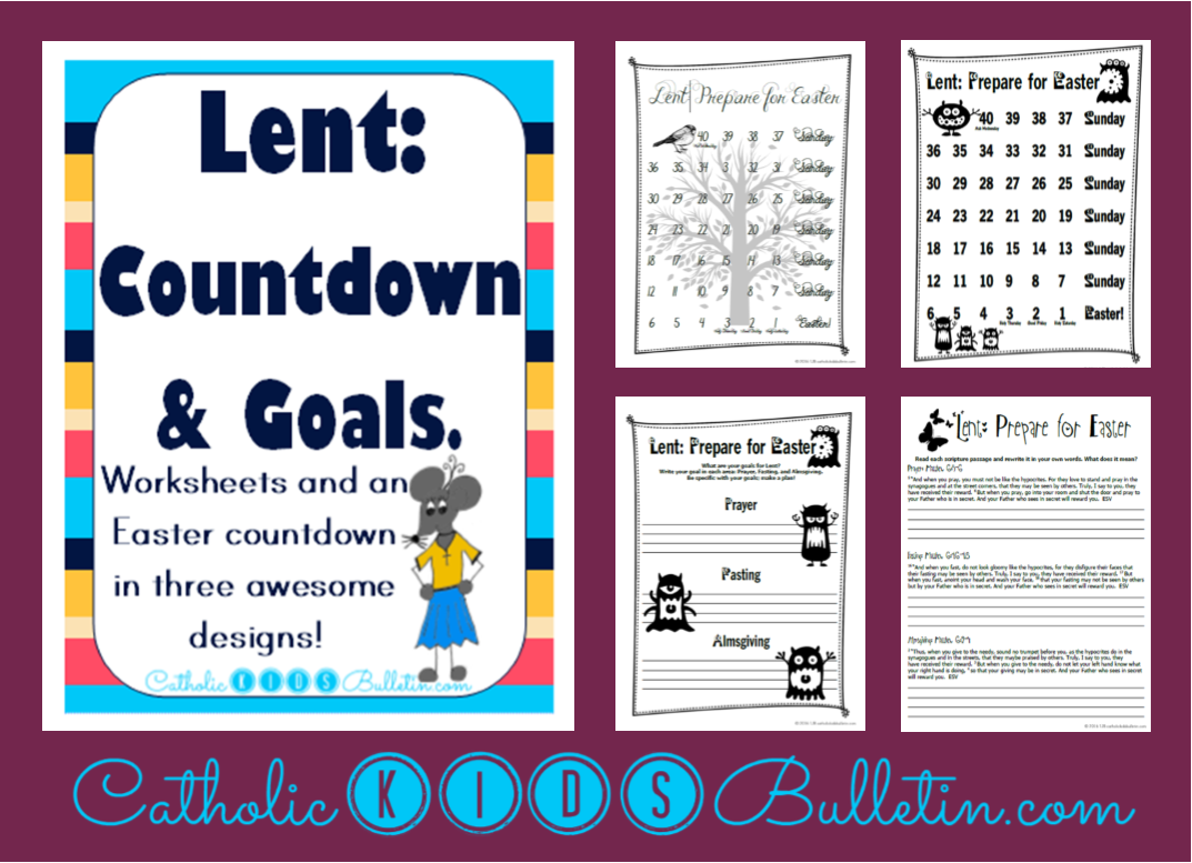 worksheet Lent Worksheets catholic kids top 6 lent traditions goal setting and countdown teacher pay teachers bulletin