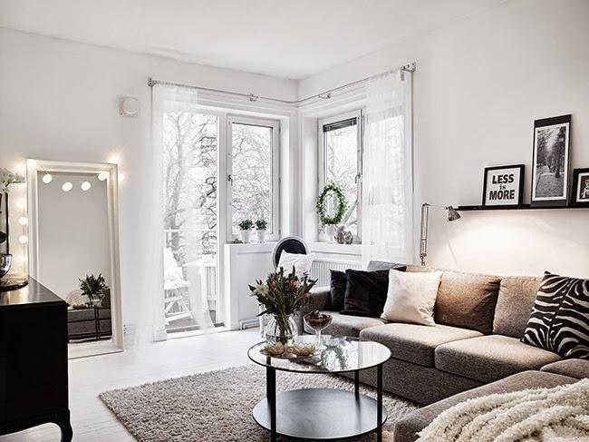 Boho deco chic un piso en blanco y negro con detalles for Decoracion pisos romanticos