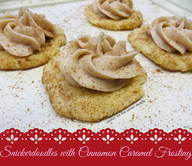 Snickerdoodles with Cinnamon Caramel Frosting from www.anyonita-nibbles.com