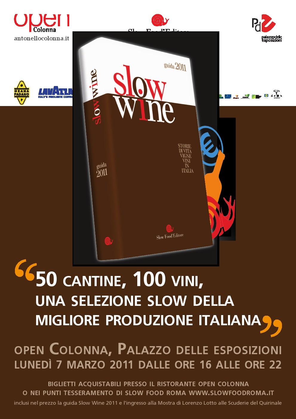 Percorsi di Vino: Slowine sbarca a Roma il 7 Marzo 2011