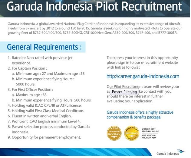 Fly Gosh: First Officer / Captain - Garuda Indonesia Pilot Recruitment