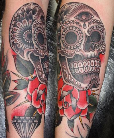 sugar skull tattoo tattoos photo gallery. Black Bedroom Furniture Sets. Home Design Ideas