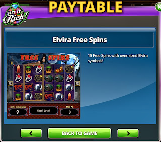 Second free spins screenshot at Elvira Slots