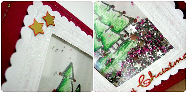 """Tutorial: Card natalizia con Shaker Box (dettagli) - by Desi di """"Italian Scrapaholic Gal"""""""