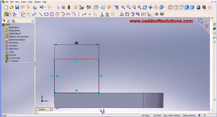 Solidworks Basic Part Taught How To Design Easy For