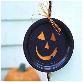 Ghoulish paper plate Halloween crafts