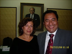 Después de un recital en Miraflores con uno de los congresistas.