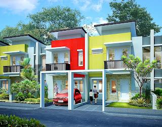 Rumah Tinggal type 7 x 18 design Tarik Garis
