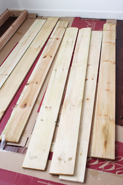 DIY Rustic Fence Plank Wall. How to add character to your wall for less than the cost of a tank of gas!